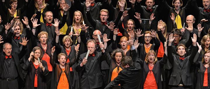 Das Junge Vokalensemble Hannover singt zu Gunsten des Hauses der Religionen.